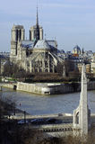 France, Paris; City View With Cathedral Royalty Free Stock Image