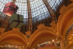 France. Paris. Dome shop Lafayette Royalty Free Stock Photos