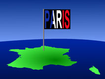 France with Paris flag Stock Photos