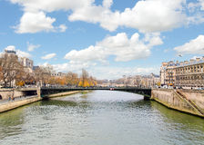 france paris flodseine Royaltyfri Fotografi