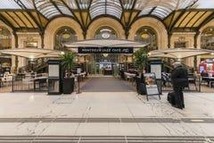 France, Paris, Gare de Lyon, January 2019: Montreux Jazz cafe and Le Train Bleu restaurant stock photos