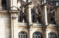 france paris Gotiskt helgon Eustache Church Royaltyfri Foto