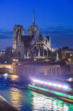 France, Paris, Illuminated Notre Dame de Paris Stock Photography