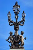 France, Paris: Lamp-post velho Foto de Stock