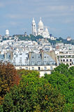 France, Paris: Landscape with Sacre Coeur Stock Photos