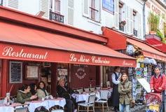 France, Paris, Montmartre. Restauran La Mere Catherine. First bistro in Paris Stock Images