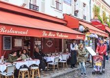 France, Paris, Montmartre. Restauran La Mere Catherine. First bistro in Paris Royalty Free Stock Photography
