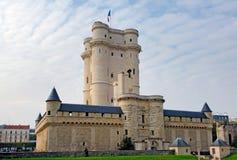 France, Paris: Monuments of Paris. Blue sky and the Chateau de Vincennes royalty free stock images