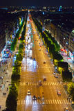 France. Paris.  night street Royalty Free Stock Photos