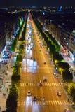 France. Paris.  night street Royalty Free Stock Photos