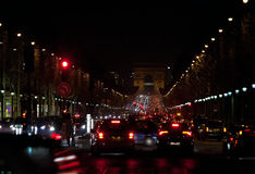 France. Paris. Night street Royalty Free Stock Photo