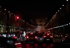 France. Paris. Night street Royalty Free Stock Photo