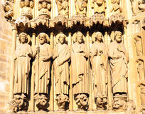 France, Paris: Notre Dame cathedral Royalty Free Stock Photography