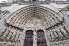 France. Paris. Notre-Dame doors Stock Images