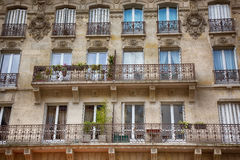 FRANCE. Paris. Parisian Architecture. FRANCE. Paris. Beautiful Parisian Architecture Old town. Facade of the building with Balconies Royalty Free Stock Image