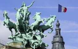 France; Paris;sculpture at the grand palais Stock Images