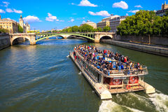 France, Paris, Seine Stock Photography