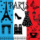 France Paris set Royalty Free Stock Photography
