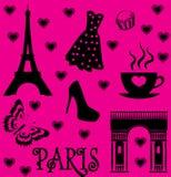 France Paris set Royalty Free Stock Photos