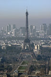 France, Paris; sky city view with the Eiffel tower Stock Photos