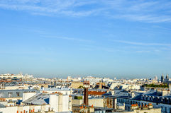 France - Paris - skyline with roofs. With blue sky Royalty Free Stock Images