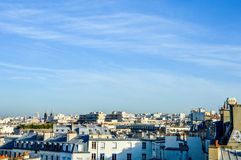 France - Paris - skyline with roofs. With blue sky Stock Photos