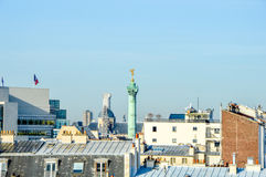 France - Paris - skyline with roofs. With blue sky Stock Photo