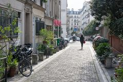 Lanes of Paris Royalty Free Stock Images