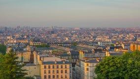 Morning Panorama of Paris. Time lapse stock video