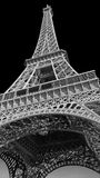 france paris Tour Eiffel dans le traitement noir et blanc d'art photo stock