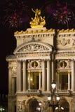 France. Paris. Um edifício a ópera grande imagens de stock royalty free