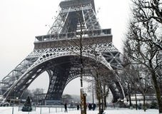 Free France Paris Under Snow Royalty Free Stock Photography - 17502767