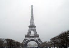 France Paris under snow Stock Photo