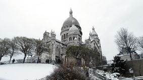 France Paris under snow Stock Photos