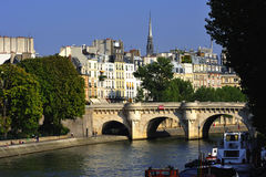 France Paris: view of Ile de la cite Royalty Free Stock Photography