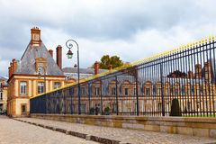 France. Park and a palace of Fontainebleau Royalty Free Stock Photos