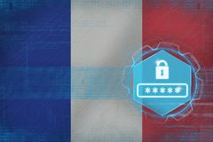 France password protection. Internet safety concept. Royalty Free Stock Photos