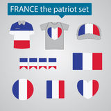 France the patriot set Royalty Free Stock Image