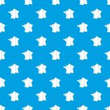 France pattern seamless blue Royalty Free Stock Photography