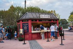 France Pavilion at Epcot. Orlando, Florida: December 4, 2017: France Pavilion at Epcot at Epcot at Walt Disney World.  Epcot opened in October 1, 1982 Stock Images