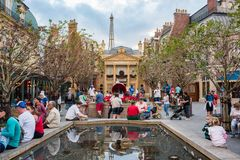 France Pavilion at Epcot. Orlando, Florida: December 4, 2017: France Pavilion at Epcot at Epcot at Walt Disney World.  Epcot opened in October 1, 1982 Royalty Free Stock Photography