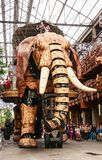 Pays de la Loire, Nantes, Machines of the Isle of Nantes, The Grand Elephant is the most popular attraction at the stock photography