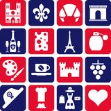 France pictograms Stock Image