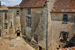 France, picturesque castle of Biron in Dordogne royalty free stock photo