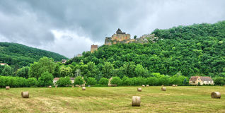 France, picturesque castle of Castelnaud in Dordogne Stock Image