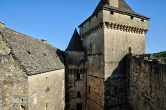 France, picturesque castle of Castelnaud in Dordogne Stock Photography