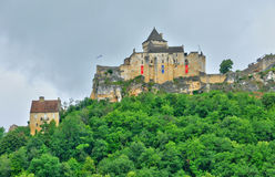 France, picturesque castle of Castelnaud in Dordogne Royalty Free Stock Photos