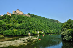 France, picturesque castle of Castelnaud in Dordogne Royalty Free Stock Photography