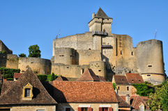 France, picturesque castle of Castelnaud in Dordogne Royalty Free Stock Photo