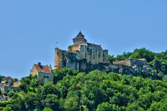 France, picturesque castle of Castelnaud in Dordogne Royalty Free Stock Image